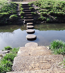 Stepping Stones by oatsy40 from Flickr (Creative Commons License)