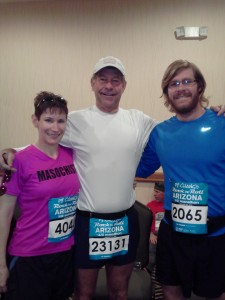 Rock 'n' Roll Arizona Half Marathon 2013 - Pre-Race with my Uncle and Cousin