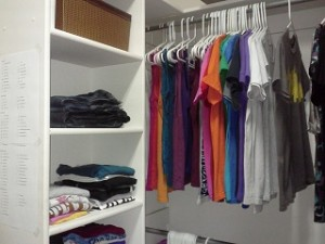 North wall of my closet