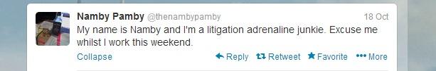 Namby Tweet