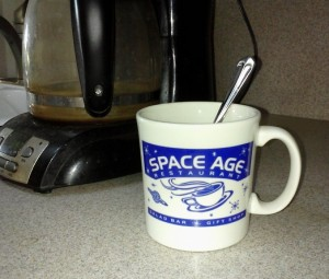 My mug from the Space Age Cafe in Gila Bend