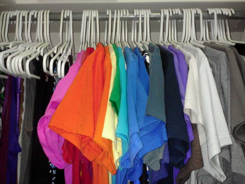 My Closet as of February 15, 2014 - I have a lot of T-shirts, but I wear a lot of them