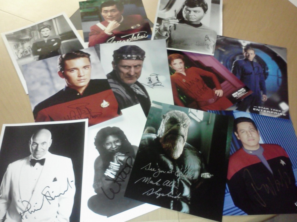 Some of my Favorite Photos in my Star Trek Autograph Collection