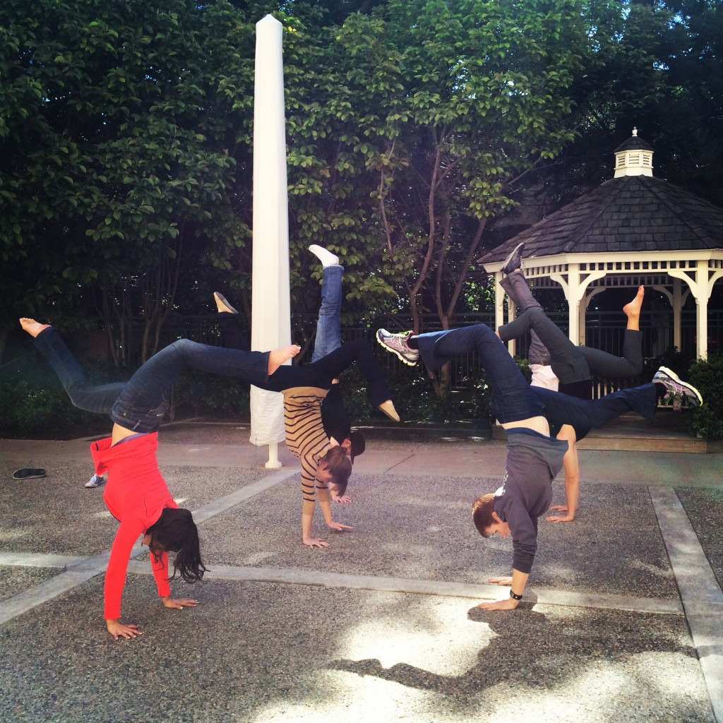 Post-Brunch Handstand - Photo by Erika Brown