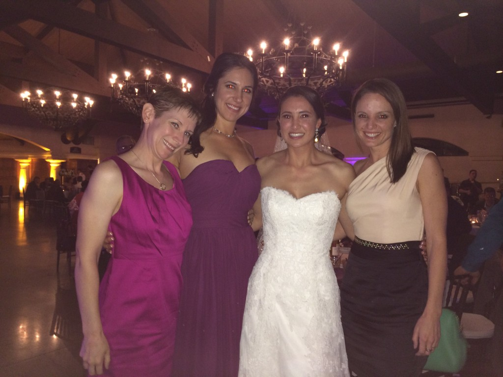 At Lindsey's wedding with my Teammates - Photo by Erika Brown