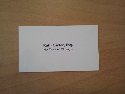 New business cards pretty freakin awesome the undeniable ruth new business card front colourmoves