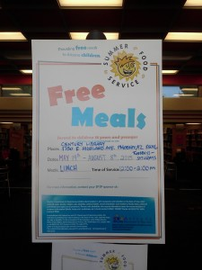 Summer Lunch Program at my branch of the Phoenix Public Library