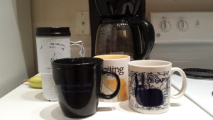 All my mugs for coffee are big.