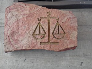 Scales of Justice at Lewis and Clark Law School