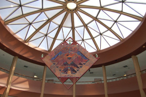 Looking up in the ASU Law School rotunda - I think that's Calleros' office door on the right