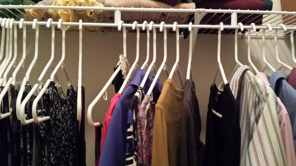 Flipped Hangers in my Closet - January 2016