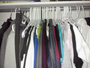 Garments that have been removed from my closet since January 1st.