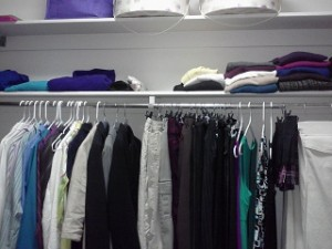 East wall of my closet
