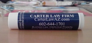 Carter Law Firm Lip Balm