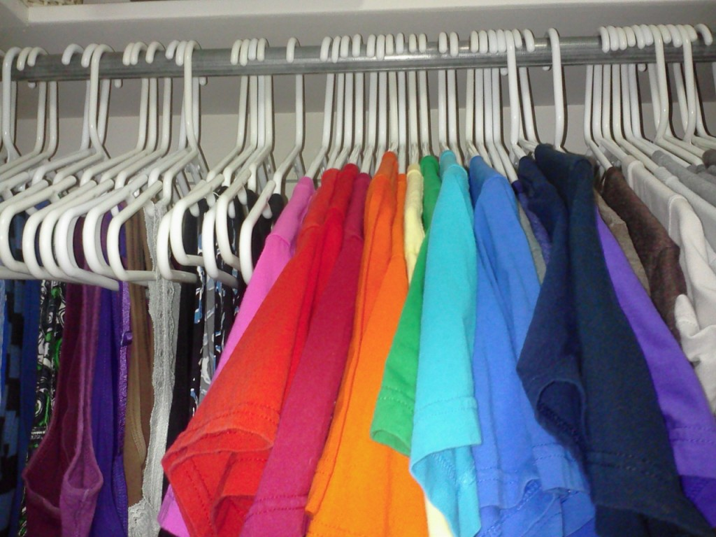 Same Section of my Closet on January 9, 2014
