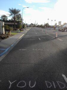 Rock n Roll AZ Street Chalk