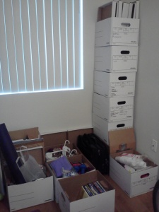 These are the empty boxes & stuff that's going to charity - December 7, 2014