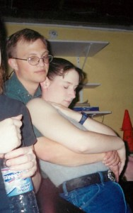 Snuggling with Chris at the Dance Hall - 2001
