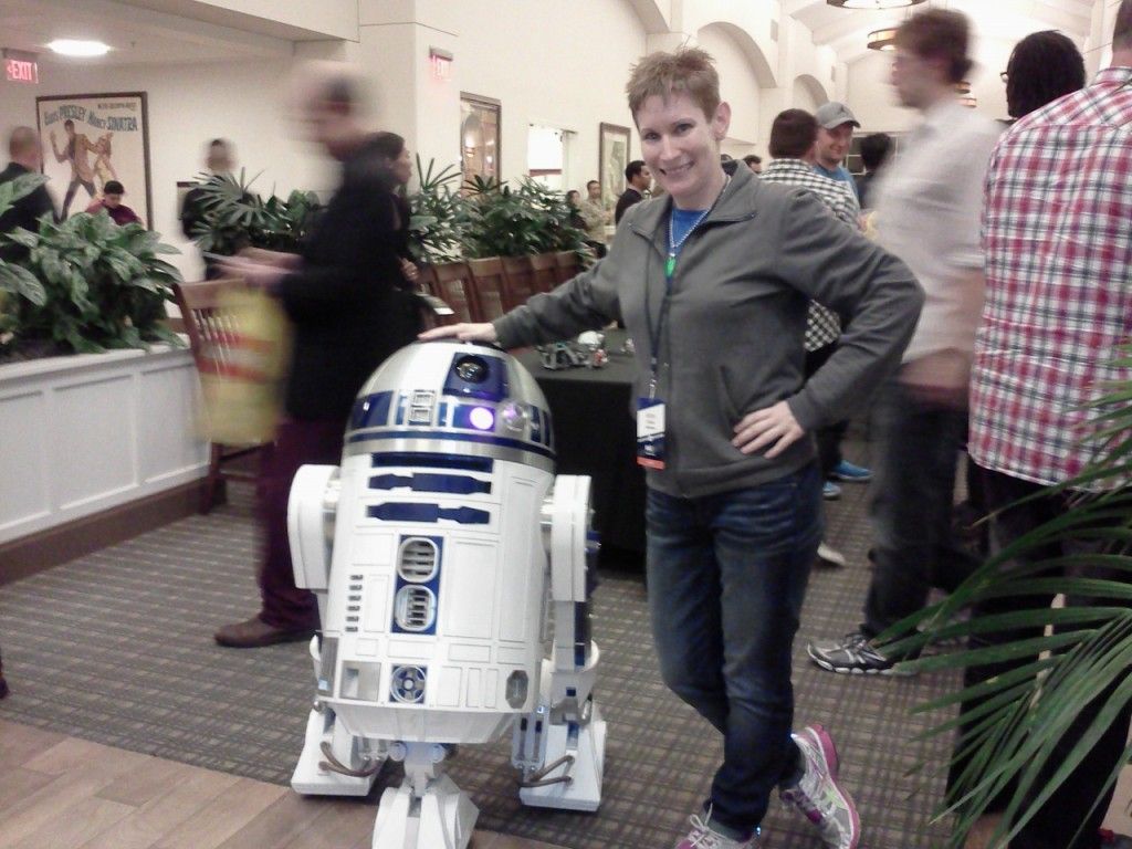 Meeting R2D2 at LucasFilms