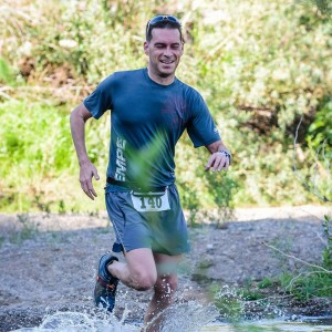 This is my friend Kolby doing the same race I didn't finish. - still smiling at Mile 11.